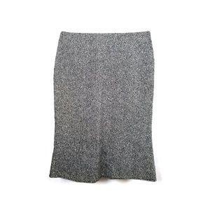 Wool Tweed Tulip Flounce Skirt Lined 0